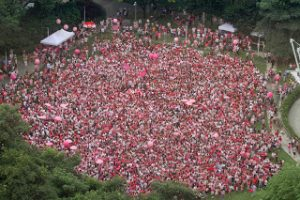 Over 10,000 supporters of the Freedom to Love turn Hong Lim Park Pink, for Pink Dot 2011