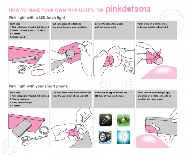 Making your own pink lights!