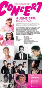 Pink Dot Concert line-up and programme