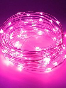 Pink fairy lights